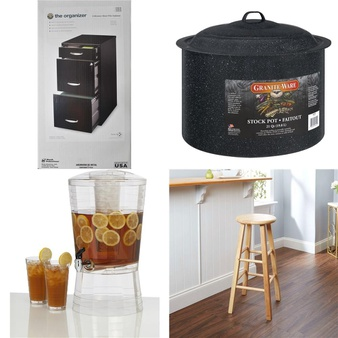 Pallet – 36 Pcs – Kitchen & Dining, Office, Bedroom, Kids – Customer Returns – Mainstays, Space Solutions, Creative Ware, Sauder
