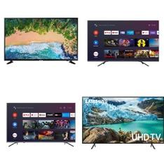 10 Pcs – LED/LCD TVs – Refurbished (GRADE A) – Samsung, HISENSE, TCL, LG