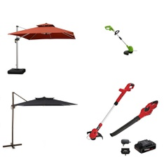Pallet – 12 Pcs – Trimmers & Edgers, Patio & Outdoor Lighting / Decor – Customer Returns – HomeTrends, GreenWorks, The Coleman Company, Remington