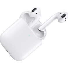 5 Pcs - Apple AirPods 2 White with Wireless Charging Case In Ear Headphones MRXJ2AM/A - Refurbished (GRADE D)