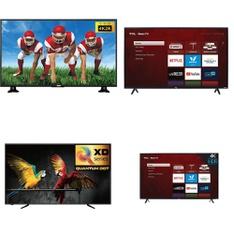 9 Pcs - LED/LCD TVs - Refurbished (GRADE A) - RCA, TCL, HISENSE, Samsung