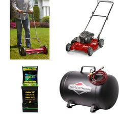 Pallet - 15 Pcs - Lawn Mowers - Customer Returns - Hyper Tough, Briggs & Stratton, Murray, Arcade 1UP