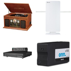 Pallet - 56 Pcs - DVD & Blu-ray Players, Receivers, CD Players, Turntables, Accessories - Customer Returns - onn., Victrola, Antop, VIZIO