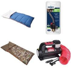 3 Pallets – 130 Pcs – Camping & Hiking, Kitchen & Dining, Power Tools, Hunting – Customer Returns – Ozark Trail, Hyper Tough, Smith's, Kershaw
