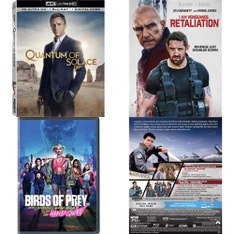 72 Pcs – Movies & TV Media – New, Open Box Like New – Retail Ready – Lionsgate, MGM, Paramount Pictures, Warner Home