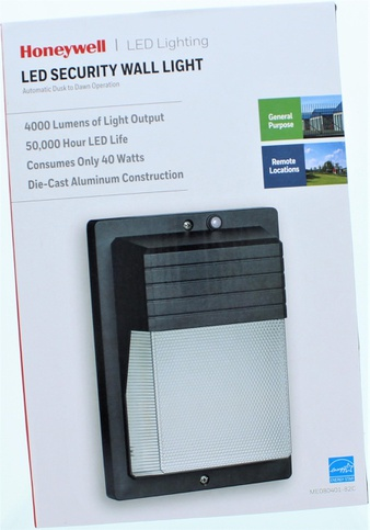Clearance! 51 Pcs – Honeywell LED Security Wall Light – Like New, Used