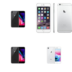 13 Pcs - Apple iPhone - Refurbished (GRADE C - Unlocked) - Models: 3D032LL/A, MRPR2LL/A, 3A511LL/A, MQ8V2LL/A