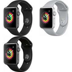 5 Pcs – Apple Watch – Series 3 – 42MM – GPS – Refurbished (GRADE D) – Models: MQL12LL/A, MTF32LL/A, MQL02LL/A