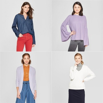 150 Pcs – T-Shirts, Polos, Sweaters & Cardigans – New – Retail Ready – Universal Thread, A New Day, Xhilaration, Gilligan & O'Malley