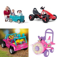 Pallet – 6 Pcs – Vehicles – Customer Returns – Step2, Fisher Price – Dropship, Huffy, American Plastic Toys