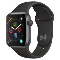 5 Pcs - Apple Watch Gen 4 Series 4 40mm Space Gray Aluminum - Black Sport Band MU662LL/A - Refurbished (GRADE C)