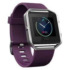 40 Pcs – Fitbit FB502SPML Blaze Smart Fitness Watch, Plum, Silver, Large – Refurbished (GRADE A)