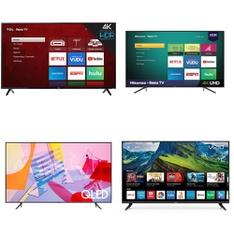 24 Pcs - LED/LCD TVs - Refurbished (GRADE A, GRADE B) - Samsung, TCL, VIZIO, HISENSE