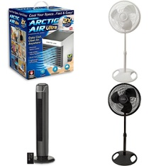 3 Pallets - 216 Pcs - Fans, Humidifiers / De-Humidifiers, Home Security & Safety, Hardware - Customer Returns - As Seen On TV, Lasko, Mainstay's, Brink's