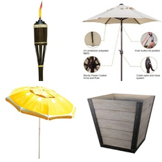 Pallet - 35 Pcs - Accessories, Patio - Customer Returns - Tiki, California Umbrella, HomeTrends, Abba Patio