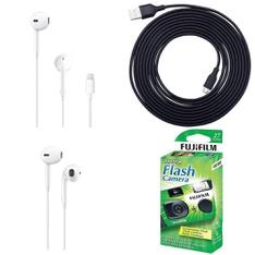 Pallet – 1246 Pcs – In Ear Headphones, Other, Point & Shoot, Over Ear Headphones – Customer Returns – Apple, Onn, onn., Fujifilm