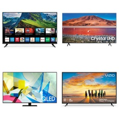 12 Pcs – LED/LCD TVs – Refurbished (GRADE C) – VIZIO, Samsung, Philips, onn.