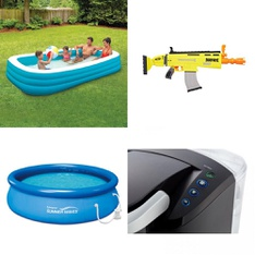 Truckload - 1677 Pcs - Pools & Water Fun, Vehicles, Trains & RC, Boardgames, Puzzles & Building Blocks, Single Cup Brewers - Customer Returns - Play Day, Nerf, Hasbro, Keurig
