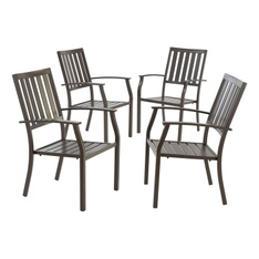 Pallet – Better Homes & Gardens Camrose Farmhouse Mix and Match Slat-Back Stacking Dining Chair, Set of 4 – Customer Returns – Better Homes & Gardens