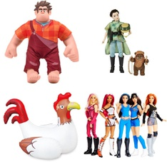 29 Pcs - Action Figures - Used, New Damaged Box, Like New, Open Box Like New - Retail Ready - Wreck-It Ralph, Play Day, Hasbro, Beyblade