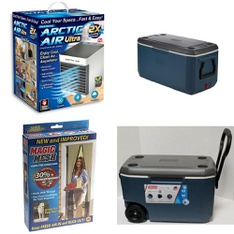 3 Pallets - 167 Pcs - Humidifiers / De-Humidifiers, Camping & Hiking, Fishing & Wildlife, Accessories - Customer Returns - As Seen On TV, Coleman, Newell Brands, Berkley