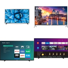 60 Pcs - LED/LCD TVs - Refurbished (GRADE A, GRADE B) - LG, Philips, TCL