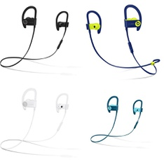 75 Pcs – Powerbeats3 Headphones (Tested NOT WORKING) – Models: ML8V2LL/A, ML8W2LL/A, MREQ2LL/A, MRET2LL/A