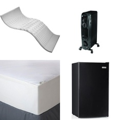 3 Pallets – 66 Pcs – Covers, Mattress Pads & Toppers, Heaters, Comforters & Duvets – Customer Returns – Mainstay's, Mainstays, Aller-Ease, Beautyrest