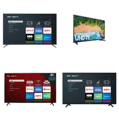 5 Pcs – LED/LCD TVs – Refurbished (GRADE A, No Stand) – Onn, TCL, Samsung
