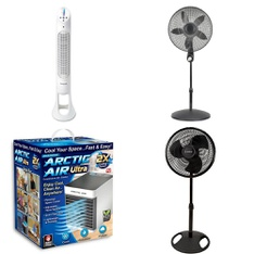 12 Pallets - 426 Pcs - Fans, Humidifiers / De-Humidifiers, Air Conditioners, Refrigerators - Customer Returns - Lasko, Helen of Troy Health & Home, As Seen On TV, UNBRANDED