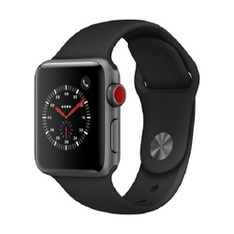 5 Pcs - Apple Watch Gen 3 Series 3 Cell 38mm Space Gray Aluminum - Black Sport Band MTGH2LL/A - Refurbished (GRADE A)