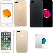 12 Pcs - Apple iPhone 7 Plus - Refurbished (GRADE A - Unlocked) - Models: MN4A2LL/A, MNQR2LL/A, MN4J2LL/A, MN4F2LL/A