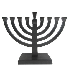26 Pcs - Hanukkah Mini Metal Menorah Black - New, Like New - Retail Ready