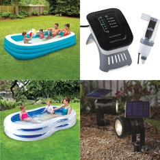 Pallet - 43 Pcs - Pools & Water Fun, Patio & Outdoor Lighting / Decor, Grills & Outdoor Cooking - Customer Returns - Play Day, Summer Waves, Better Homes & Gardens, H2OGO!