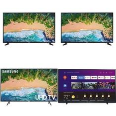 5 Pcs – LED/LCD TVs – Refurbished (GRADE A, GRADE B) – Samsung, Philips