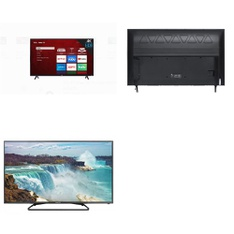 5 Pcs – LED/LCD TVs – Refurbished (GRADE C, GRADE D) – TCL, Scepter