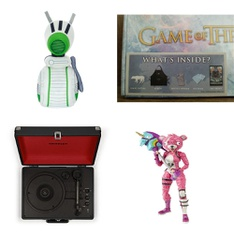 Pallet - 226 Pcs - Action Figures, Stuffed Animals, Receivers, CD Players, Turntables, Blu-ray Discs - Customer Returns - McFarlane Toys, Star Wars, CROSLEY , CultureFly