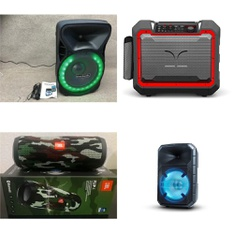 16 Pcs - Headphones & Portable Speakers - Refurbished (GRADE C) - JBL, Blackweb, Monster, LG