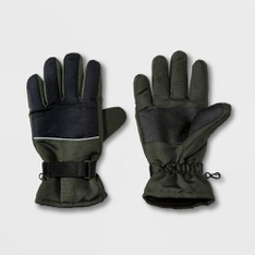 100 Pcs - Goodfellow & Co Men's Ski Glove Gloves - Olive L - New - Retail Ready