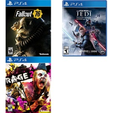 250 Pcs - Sony Video Games - New, Like New, Open Box Like New, Used - Fallout 76(PS4), Rage 2(PS4), Star Wars Jedi Fallen Order (PS4)