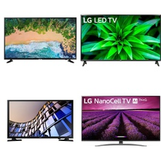 11 Pcs - LED/LCD TVs - Refurbished (GRADE A) - Samsung, LG, HISENSE, TCL