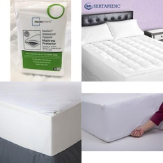 3 Pallets – 65 Pcs – Covers, Mattress Pads & Toppers, Comforters & Duvets, Vehicles – Customer Returns – Mainstay's, Mainstays, Aller-Ease, Beautyrest