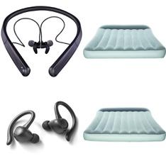 Half Truckload - 13 Pallets - 771 Pcs - Covers, Mattress Pads & Toppers, In Ear Headphones, Camping & Hiking, Accessories - Customer Returns - Blackweb, Onn, Bestway, Mainstays