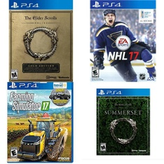 113 Pcs - Sony Video Games - Open Box Like New, Used, Like New, New - The Elder Scrolls Online: Gold Edition (PS4), Farming Simulator 17 (PS4), NHL 17(PS4), The Elder Scrolls Online: Summerset (PS4)