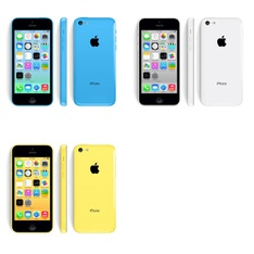 5 Pcs - Apple iPhone 5C - Refurbished (GRADE A - Unlocked) - Models: ME597LL/A, MF155LL/A, MF154LL/A