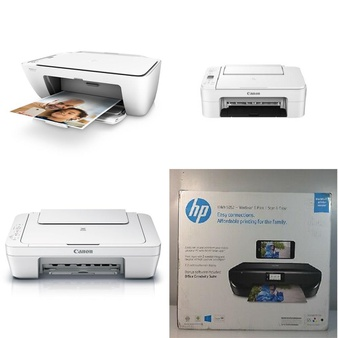 CLEARANCE! 156 Pcs – All-In-One, Inkjet – Customer Returns – HP, Canon, Brother