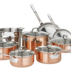 10 Pcs - Viking Culinary 40571-9993C Copper Stainless Steel Cookware Set, 13 Piece - New – Retail Ready
