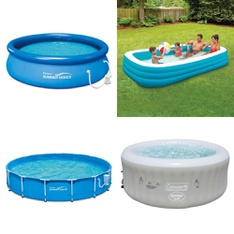 Half Truckload - 12 Pallets - 127 Pcs - Pools & Water Fun, Outdoor Play, Exercise & Fitness, Kids - Customer Returns - PolyGroup, Summer Waves, Coleman, Play Day