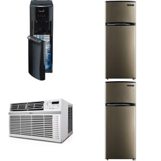 Pallet – 7 Pcs – Bar Refrigerators & Water Coolers, Air Conditioners, Refrigerators – Customer Returns – Primo Water