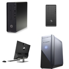12 Pcs - Desktop Computers - Refurbished (GRADE A) - HP, DELL